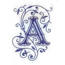 embroidery com ornate letter a individual designs polyvore