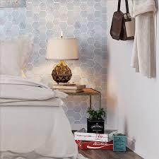 Bedroom Accent Wall Mist Blend Hexagon Tile Bedroom Accent Wall Subway Tile Outlet