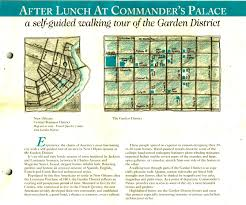 Garden District New Orleans Walking Tour Map by Commander U0027s Palace And A Streetcar Named Desire The Wine Raconteur