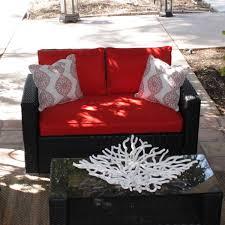 Caluco Patio Furniture Caluco Key West 4 Person Resin Wicker Patio Conversation Set