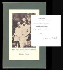 the thanksgiving visitor signed truman capote 1st edition