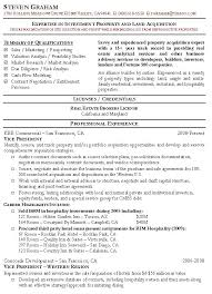 Policy Analyst Resume Sample by Property Acquisition Resume Sample Real Estate Resumes
