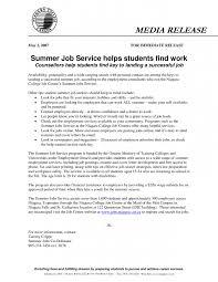 11 student summer job resume format resume sample resume for