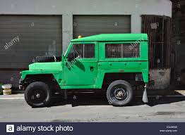 green land rover old green landrover in the mountain village of pedoulas in the