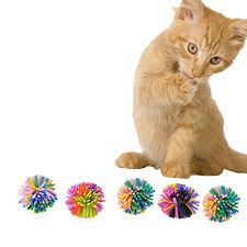 5 pack colorful pet toys for cats magic the