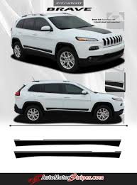 cherokee jeep 2016 white 2014 2017 jeep cherokee brave lower rocker panel accent vinyl
