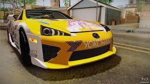 lexus lfa yellow lexus lfa beatrice the orange of rezero for gta san andreas
