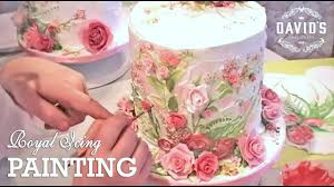 Decorating With Royal Icing Cake Decorating Hand Painting With Icing Cake Painting