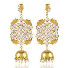 jhumka earring gold plated fashion jhumka earring by jewelum