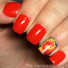 tie dye nails with opi gelcolor u2022 casual contrast