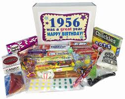 gifts 60 year woman 61st birthday gift box of nostalgic retro candy from