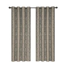 108 In Blackout Curtains by Curtainworks Semi Opaque Saville 108 In Black Thermal Curtain