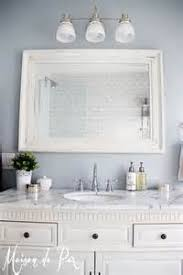 Framed Bathroom Vanity Mirrors by White Framed Bath Vanity Mirror Pictures To Pin On Pinterest