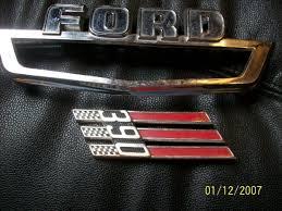 Vintage Ford Truck Emblems - vintage ford truck car fender hood emblems parts galaxie 390 1963