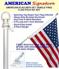 Design A Flag Free Amazon Com Flag Pole Kit Includes 2 5x4 Ft American Flag Made