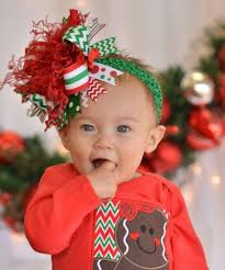 infant hair bows merry christmas the top hair bow headband green classic