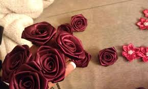 satin roses my 1st diy satin and brooch bouquet pic heavy weddingbee