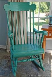 painted rocking chair with ascp provence and florence kitchen