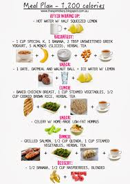 meal plan 1 200 calories summer the spirit diary forme