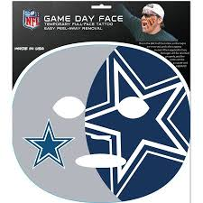 dallas cowboys game face temporary tattoo walmart com
