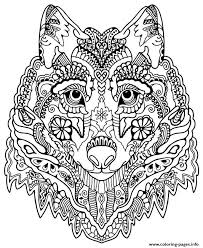 coloring page of wolf cute wolf mandala grown up coloring pages printable