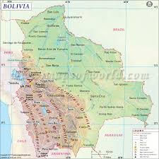 Asia Physical Map Quiz by Bolivia Map Map Of Bolivia