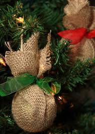 haul out the holly upcycled burlap christmas ornaments burlap
