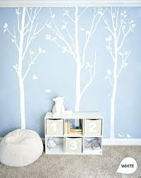 White Tree Wall Decal Nursery Tree Wall Decoration White Tree Wall Decals White Birch Trees