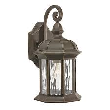 Kichler Outdoor Wall Sconce Shop Kichler Brunswick 12 76 In H Olde Bronze Medium Base E 26