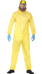 breaking bad costume yellow hazmat suit costume walter white breaking bad costume
