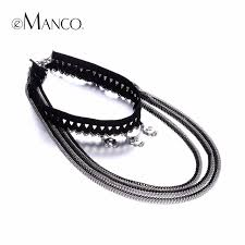 anime choker necklace images Emanco fashion lolita stretch lace multilayers choker necklaces jpg