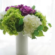 wedding flowers silk silk hydrangea artificial flowers tables centerpiece floral