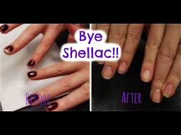 how to remove shellac polish at home youtube