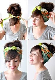 how to wear a bandana with short hair how to wear a bandana in summer hairstyles nail art beauty and