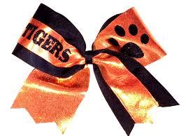 african american cheer hair bows orange and black cheer hair bow