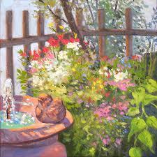 the bird bath painting by rhett regina owings