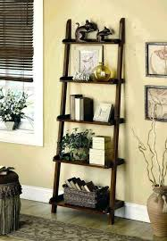 bookcase mainstays leaning ladder 5 shelf bookcase espresso