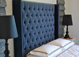 tufted velvet headboard intended for enchanting blue headboards my
