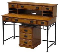Desk And Filing Cabinet Set Modern Craftsman Executive Desk Hutch And Mobile File Set