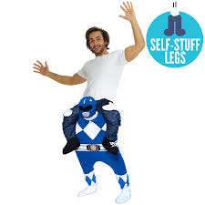 blue power ranger piggyback costume morph costumes
