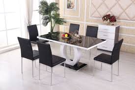 High Gloss Dining Table And Chairs Chair Round Glass Dining Table Set White Novara Chrome And Chairs