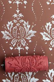 paint rollers with patterns printed paint rollers patterned paint roller with deer design etsy