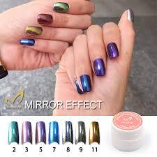 charming women mirror powder metallic silver pigment nail glitter