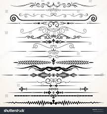 decorative ornament ornamental rule lines vector stock vector
