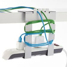Cable Organizer Desk by Hanging Cable Loft Cord Organizer The Container Store