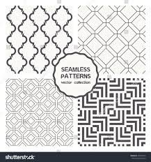 vector set four seamless patterns repeating stock vector 234990772
