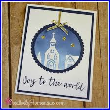 joy to the world christmas ornament handmade card creatively
