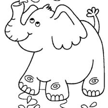 elephant coloring pages print free archives mente beta