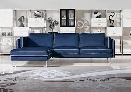 fabric sleeper sofa living room minimalist room design with nice blue faux fabric