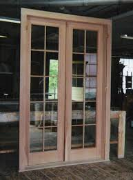 wooden and glass doors custom built wood french doors interior exterior arch top